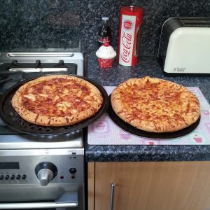 How they looked when cooked- really resemble takeaway pizzas I think