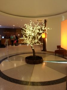 Love these light trees dotted about the hotel areas