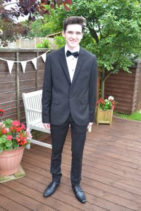 Here he looking handsome and dapper being  forced to stand and have a million pictures taken before he went!